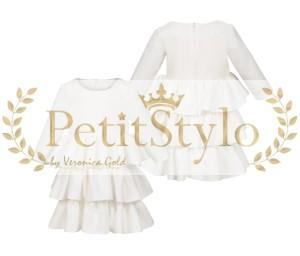9866d12113 KLARA Sukienka do chrztu biała